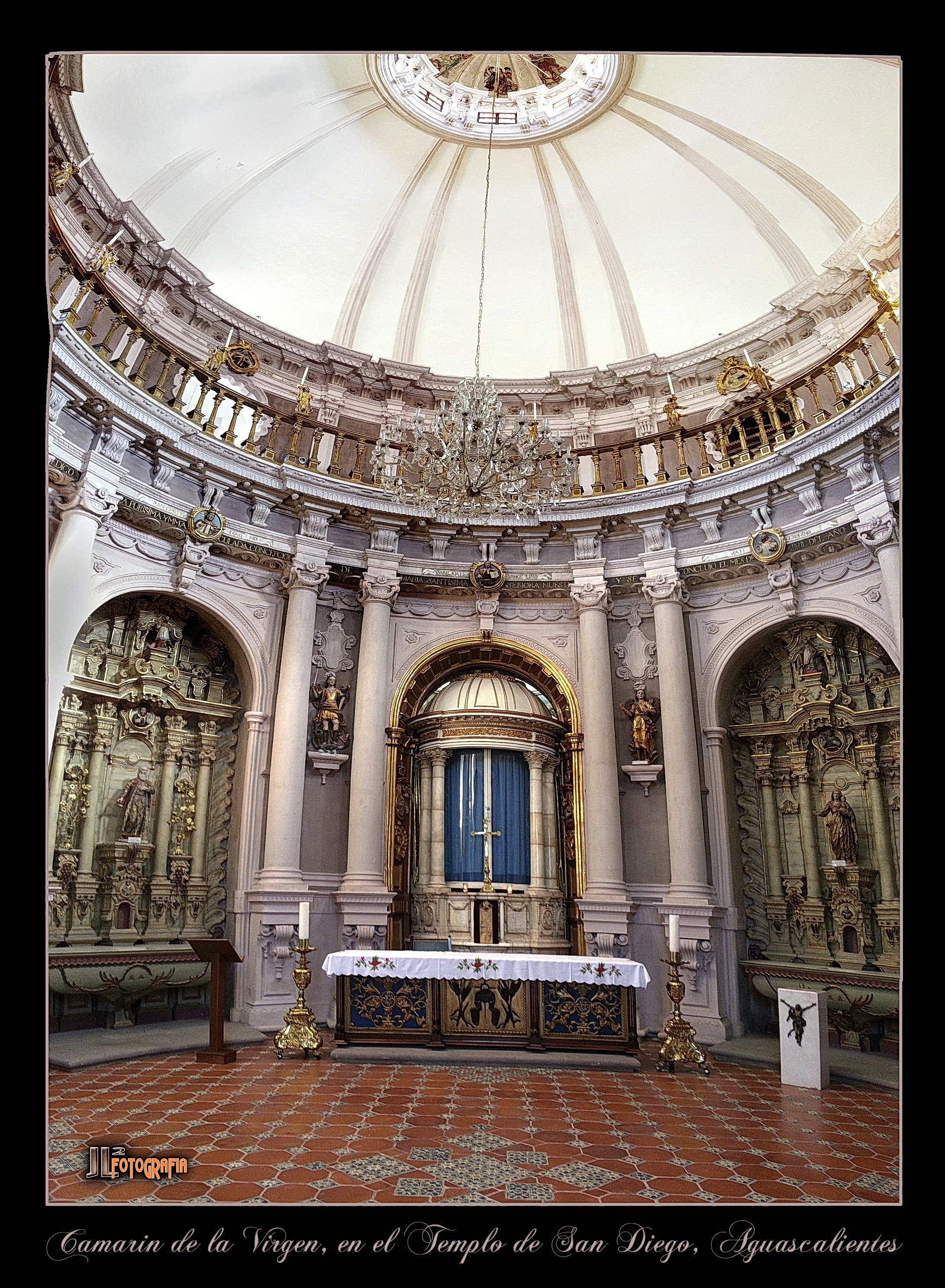 interior del camarin de de la virgen en el templo de San Diego, Aguasclaientes Ags.