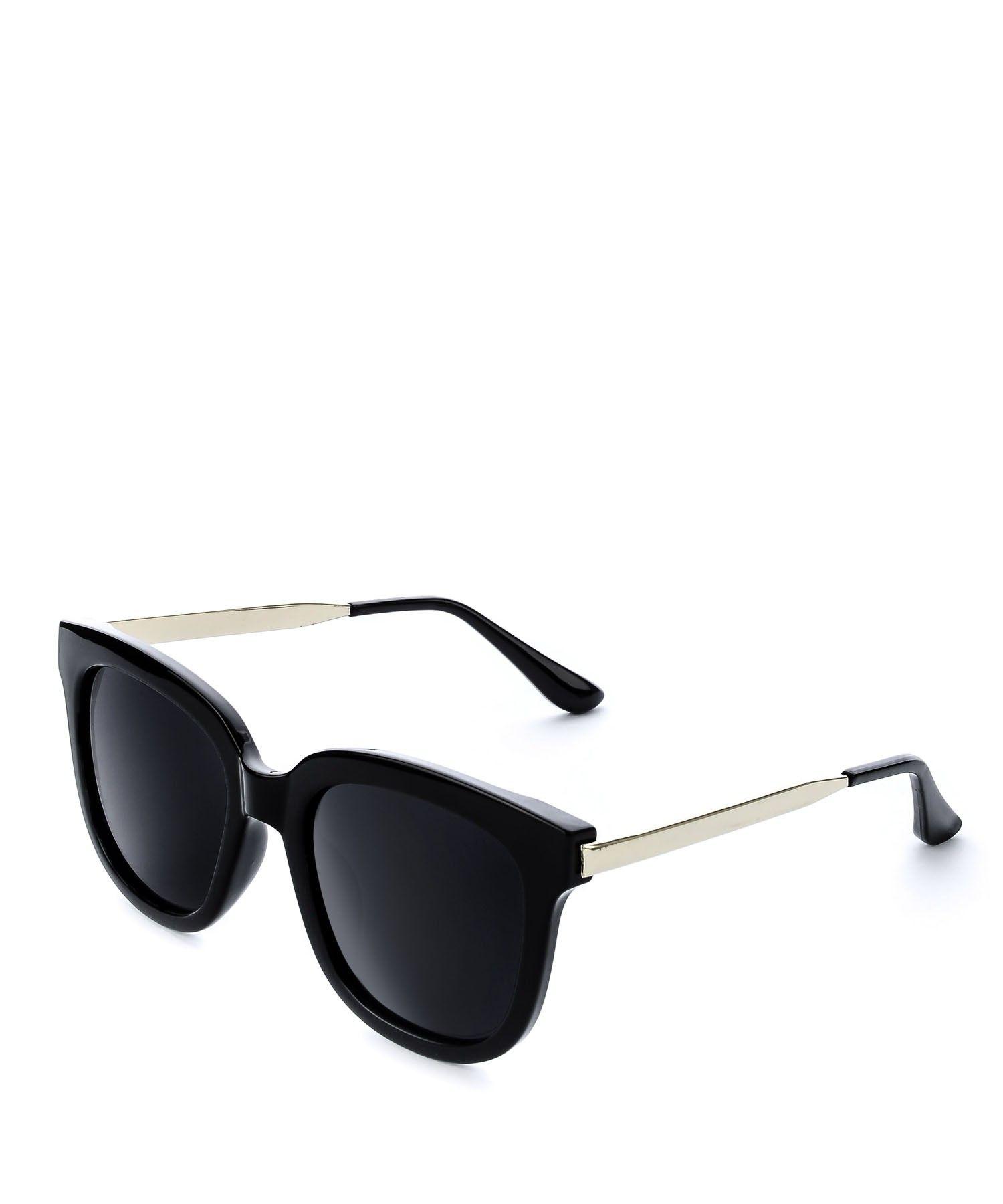 bd2c2f696fab36 Okulary przeciwsłoneczne typu Wayfarer z czarnymi szkłami in 2019 ...