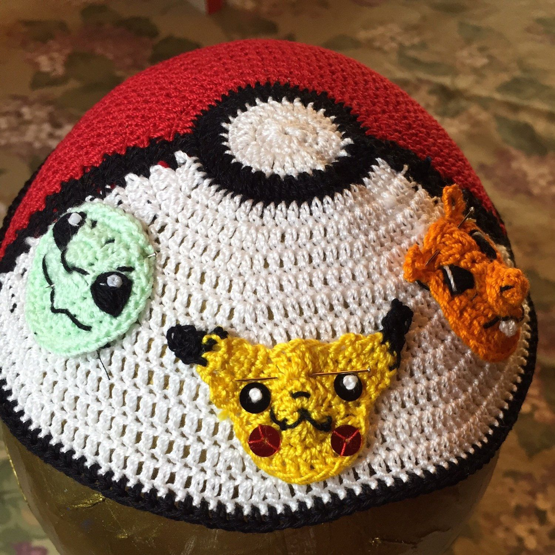 Customer's custom Pokemon kippah with their favorite