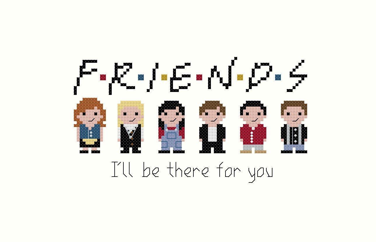 Photo of Friends PDF cross stitch pattern – instant download