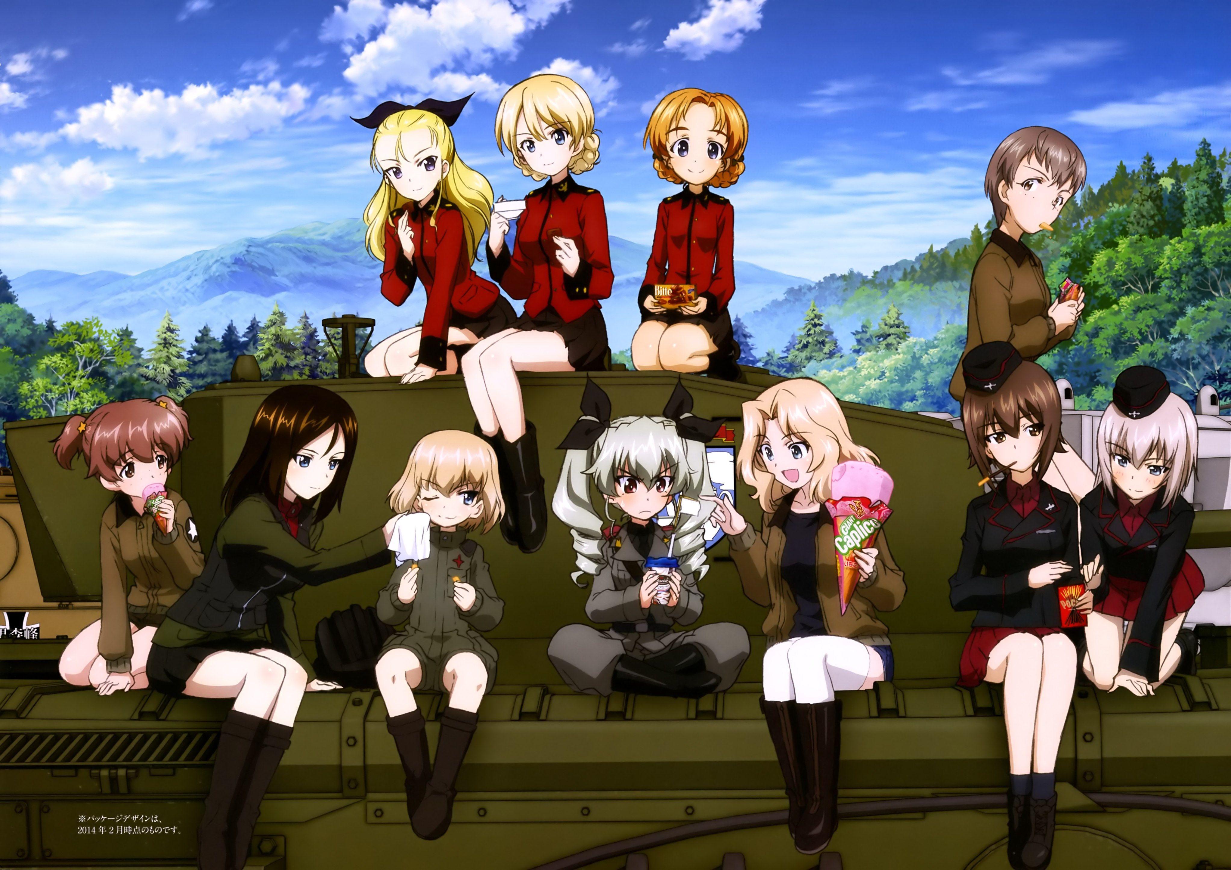 4k Wallpaper Girls Und Panzer 4091x2891 かわいいアニメの女の子