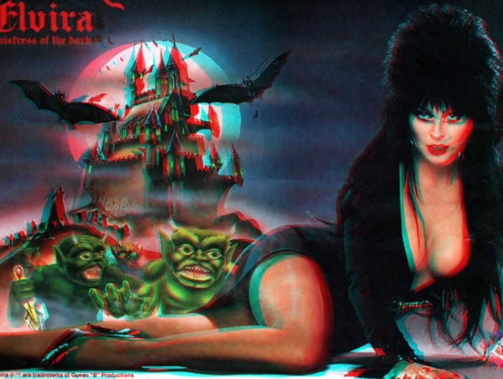 Elvira Mistress Of The Dark 3d 1 3d Anaglyph Conversion