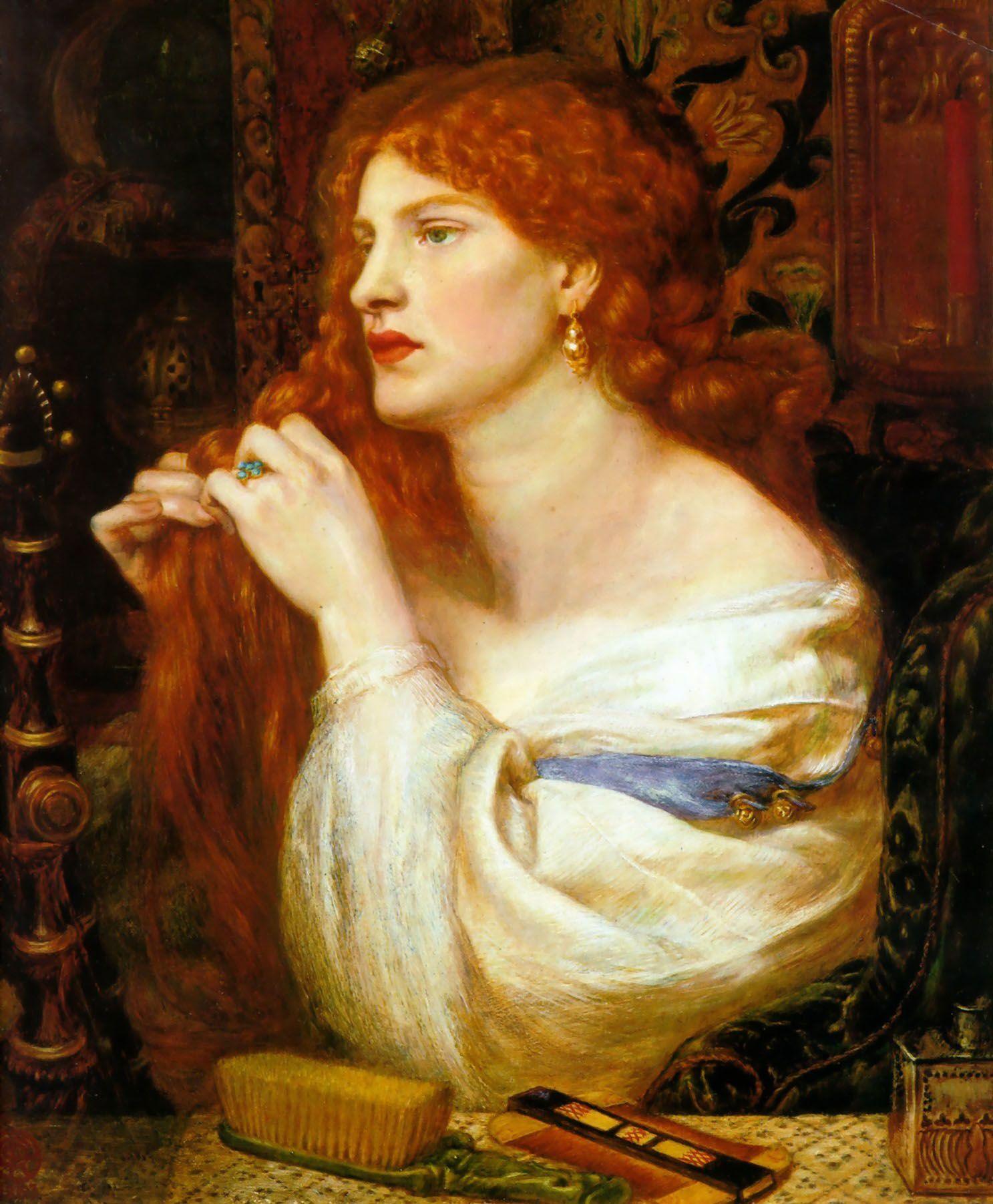 Hair As Strength And Sensuality In Pre Raphaelite Art Dante