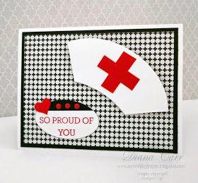 Photo of Stampin 'Up! Krankenpflege-Abschluss-Karte verrückt über Sie