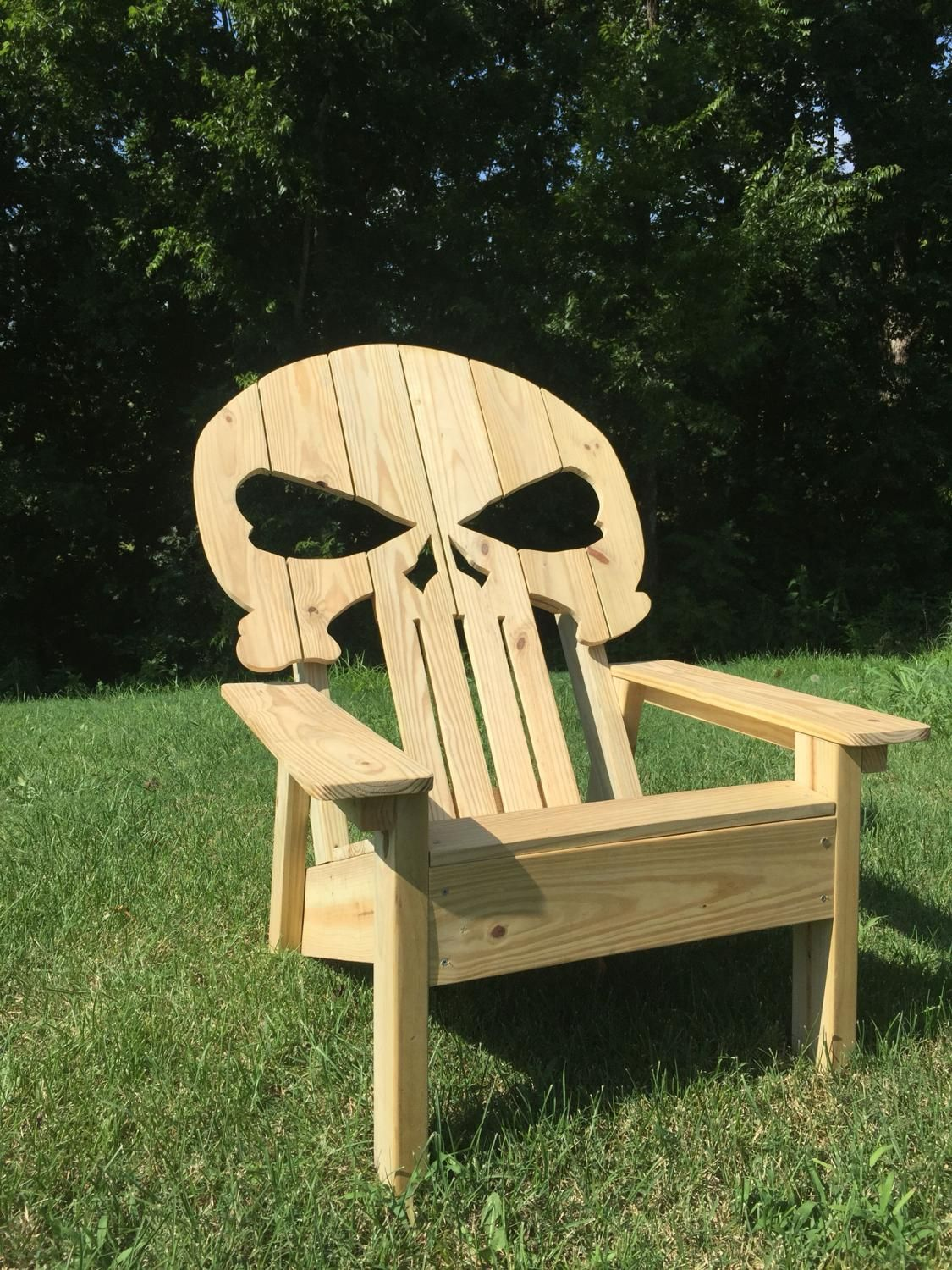 Punisher Skull Adirondack Chair With Images Adirondack Chair