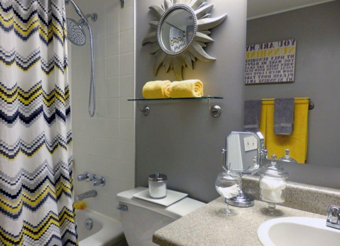 Yellow Bathroom Decor, Yellow Gray Bathroom
