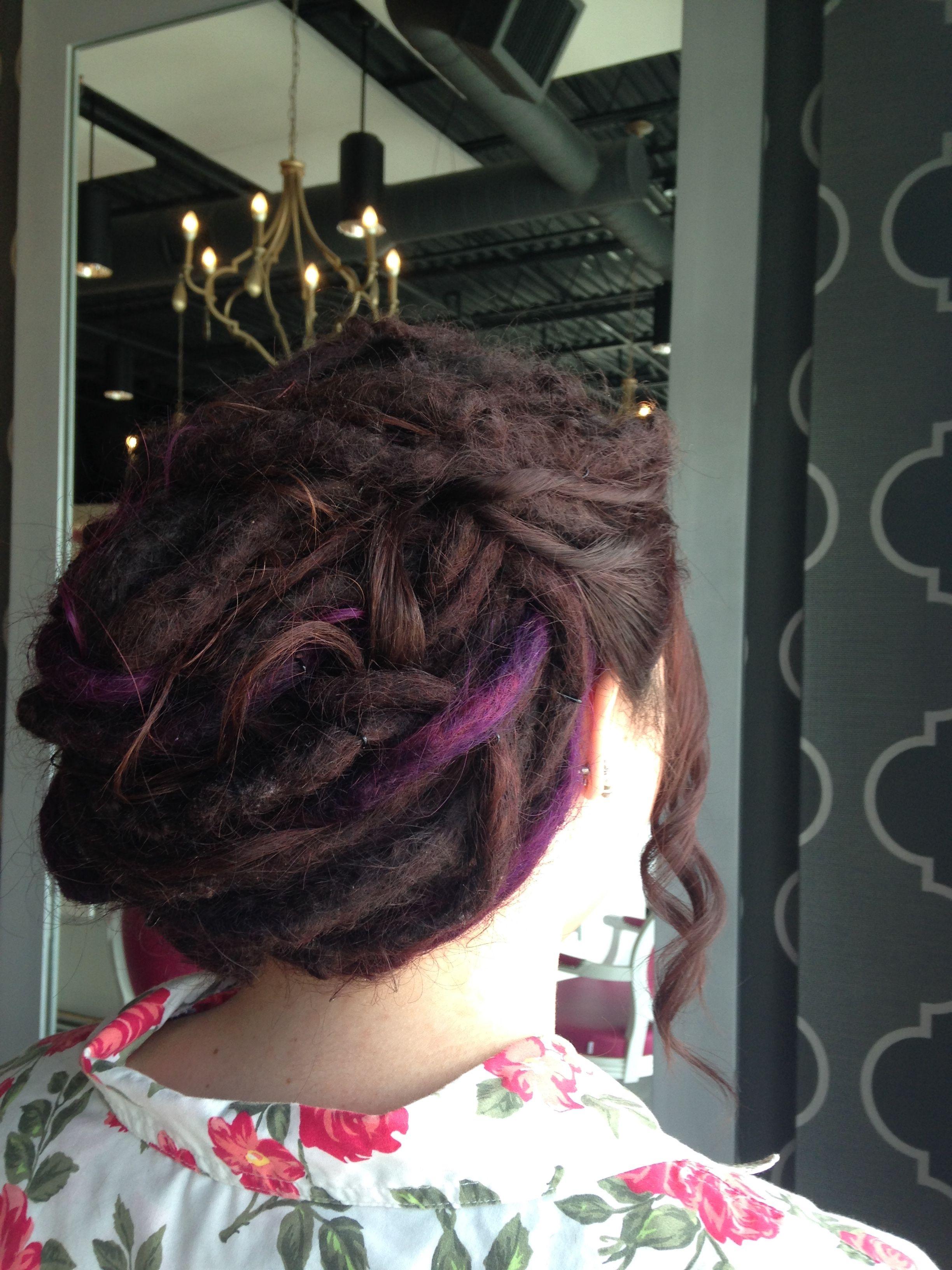 Dreadlock bridesmaid updo styles by noel pinterest blowout