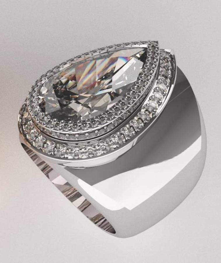 Pear Shaped Diamond 5.18 carat set in White Gold - Diamond Ring. | Luxify | Luxury Within Reach