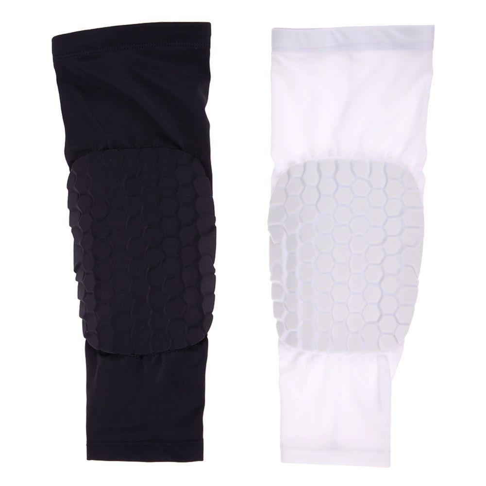 Outdoor Sports Knee Pad Crashproof Antislip Basketball Leg Long Knee Sleeve Support Leggings Pr Basketball Knee Pads Safety Football Calf Compression