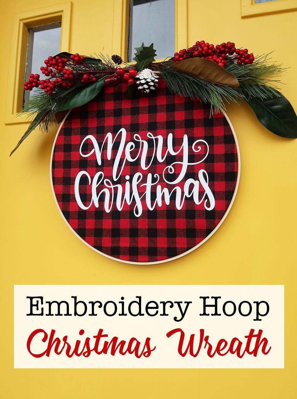 Photo of Ricamo Hoop Christmas Wreath-Weekend Craft #christmaswreaths