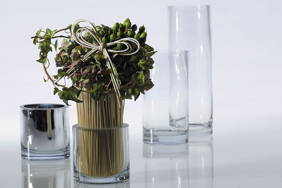 clear small glass cylinder vases for cocktail table ...