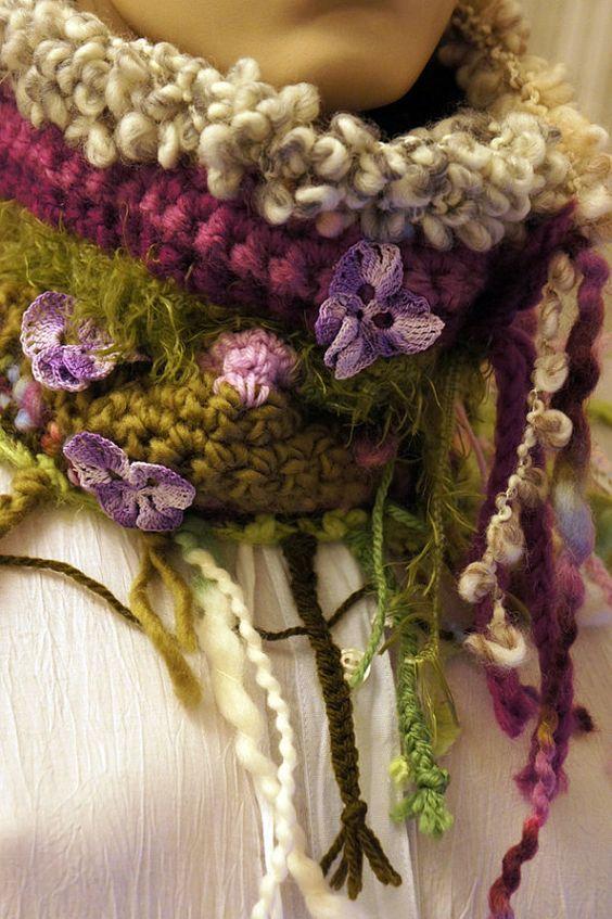 Garden inspired scarf | вязаная красота | Pinterest | Klasse ...
