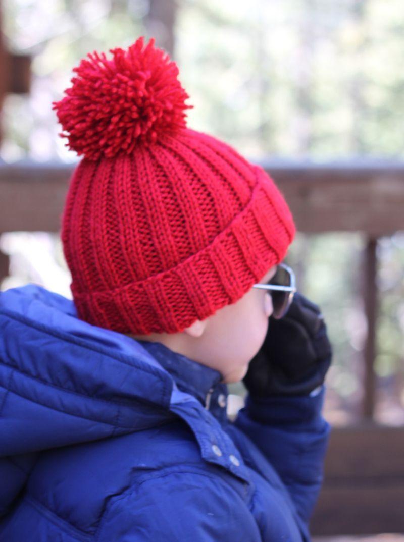 Free Pattern: Simple Ribbed Knit Hat | Knit & Crochet | Pinterest ...