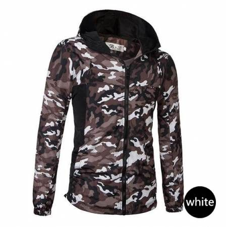 Casual mens camo hooded jacket coat military hoodie with zipper