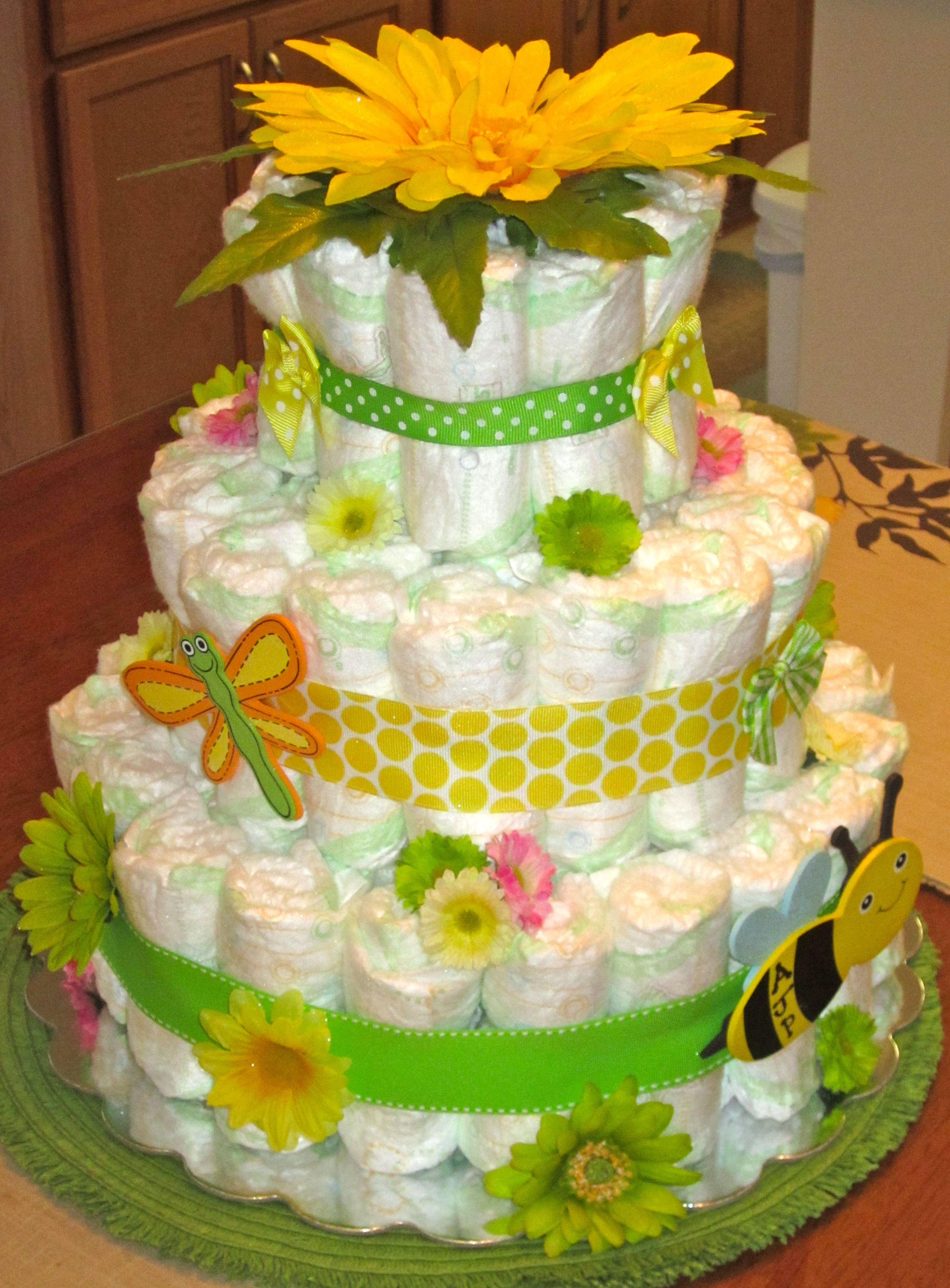 Garden diaper cake SO CUTE | gifts | Pinterest | Diapers, Babies and ...