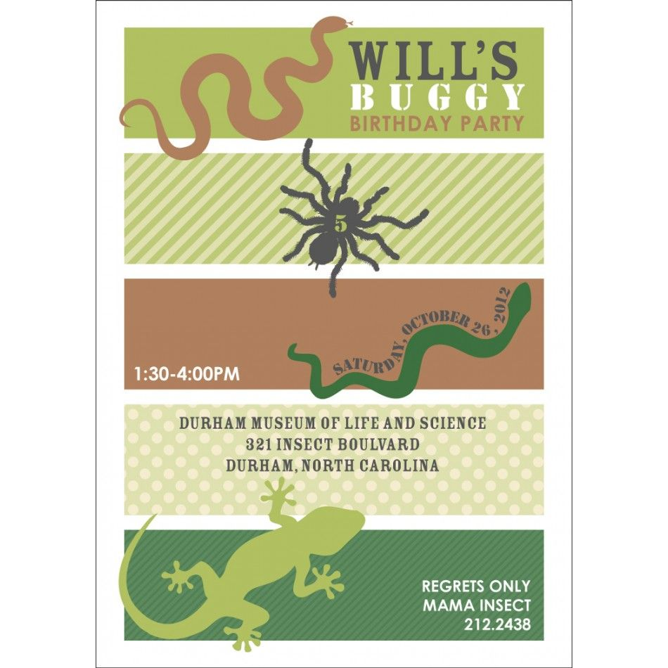 insects and reptiles birthday party