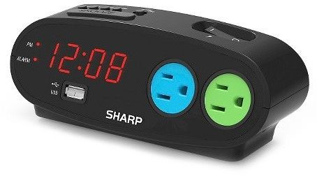 Outlet Digital Alarm Clock Black - Sharp | Products | Alarm clock