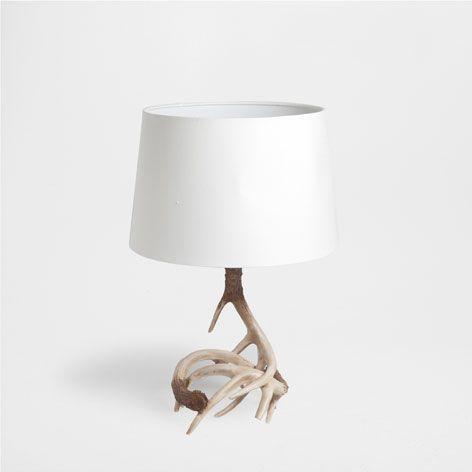 lamp met hoorns lampen decoratie zara home. Black Bedroom Furniture Sets. Home Design Ideas