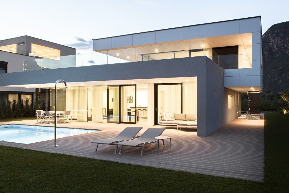 house monovolume architecture design sleek modern sparse and a pool whats not to love
