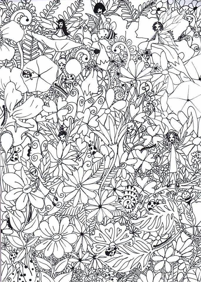 De-stress coloring page | Coloring Pages/Zentangle/Art | Pinterest ...