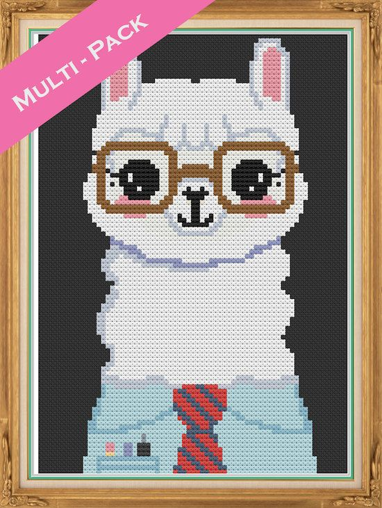 MULTIPACK OF 4 - Hipster Animal - Cross Stitch Pattern ...