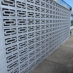 Beautiful Midcentury Modern Screen Rectangle Block Wall On Old Town Tarpon Springs Midcenturymodern Decorative Concrete Blocks Concrete Decor Modern Fence