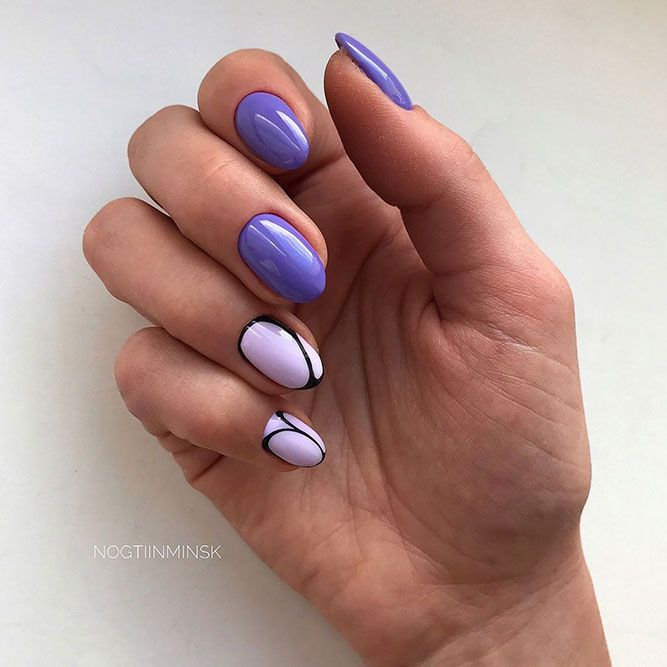 24 Charming Designs For Rounded Nails Round Nails White Nails And