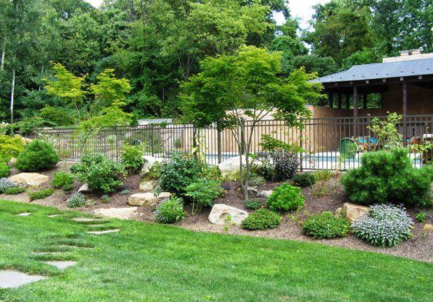 Photo of landscaped pool pictures   Fernrock Landscapes, Inc. » Backyard, Pool Landscape