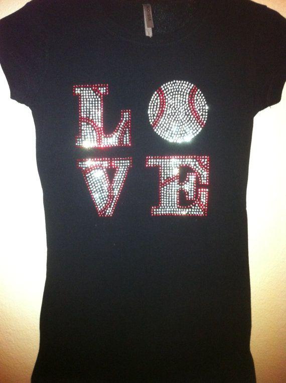 27a8717c17c42 Baseball Love Bling Shirt Plus Sizes up to 4X