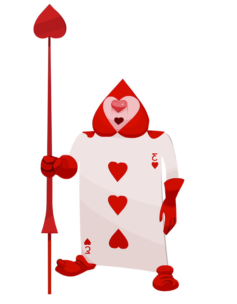 Queen of hearts soldier card google search punch art for Alice in wonderland card soldiers template