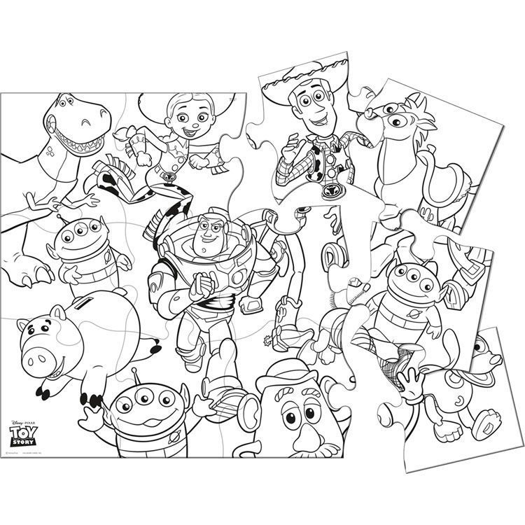 Toy Story Jigsaaw Puzzle Coloring Pages