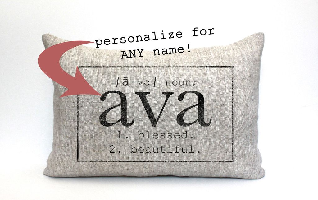 Name Definition Pillow - The Ava