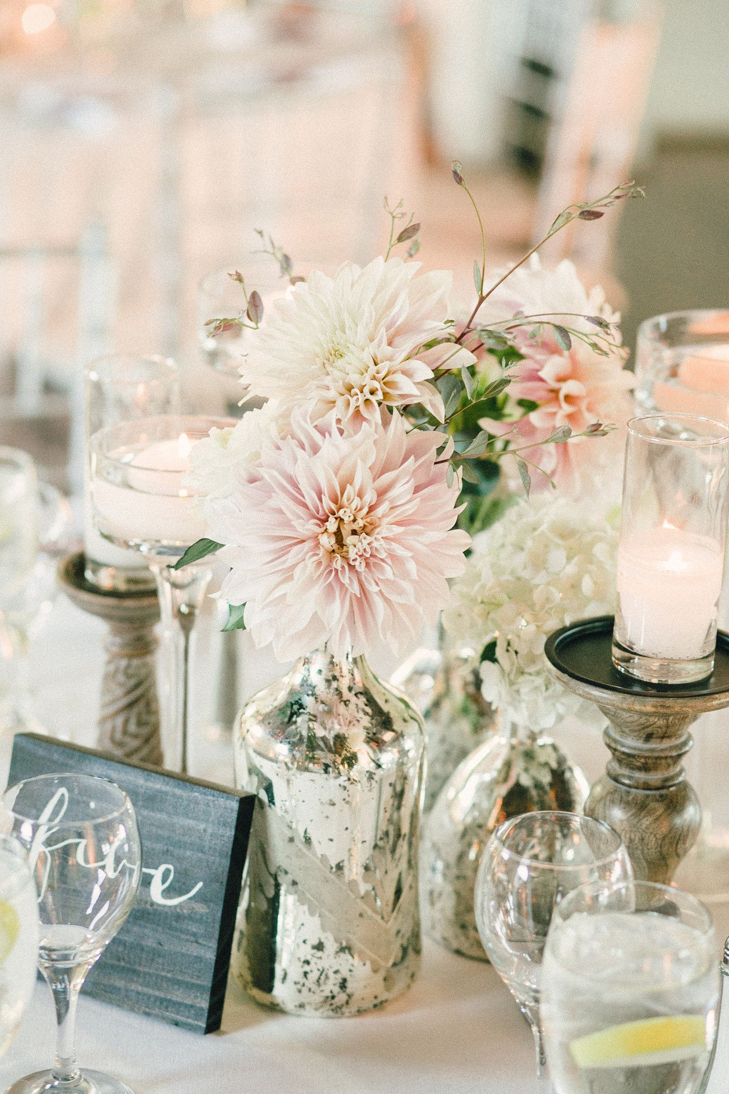 Trending Now: Cluster Wedding Centerpieces | Dahlia, Hydrangea and ...