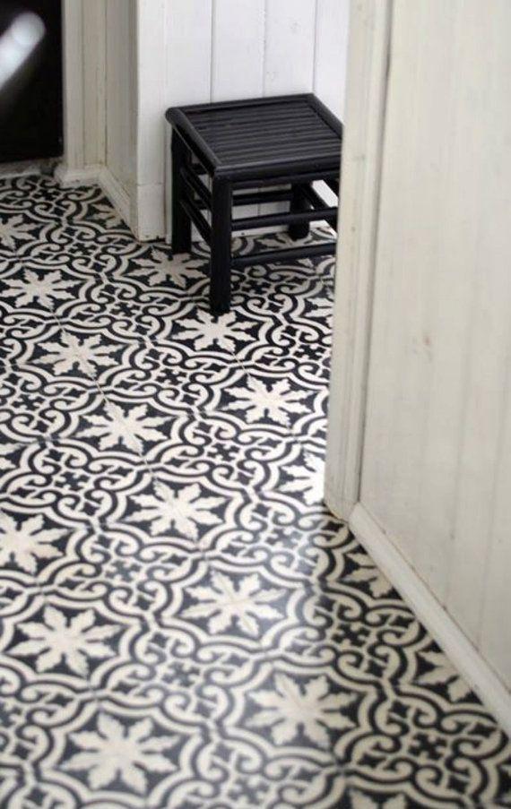 Stickers - tuiles de cuisine/salle de bain arrière la couleur noir ...