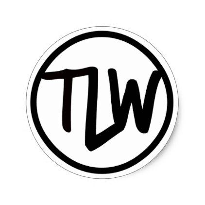 Tlw Logo Sticker Glossy Craft Supplies Diy Custom Design Supply