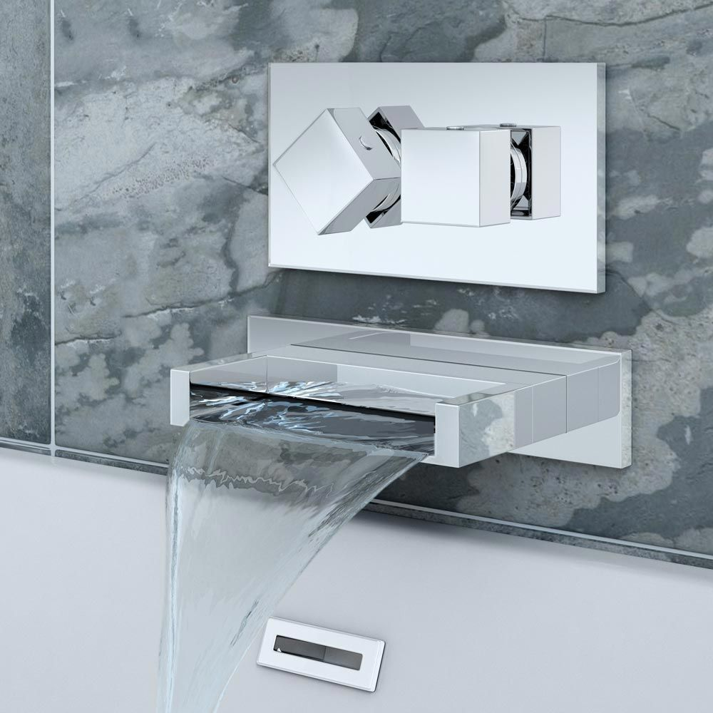 Turin Wall Mounted Waterfall Bath Filler Concealed