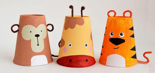 Manualidades con vasos desechables animales salvajes - Manualidades con vasos ...