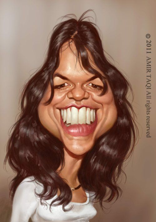 Caricatura de Michelle Rodriguez