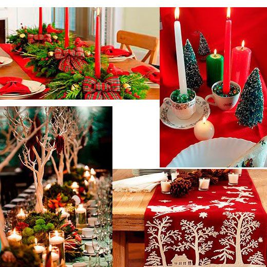 Tree table arrangements Christmas table arrangements Pinterest - christmas table decorations