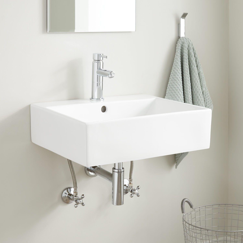 Gabriel Rectangular Porcelain Wall Mount Sink Wall Mount Sinks