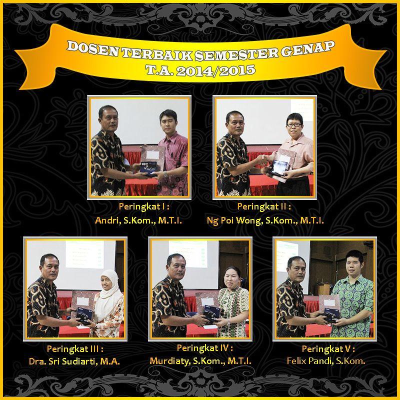 Dosen Terbaik Semester Genap T.A. 2014/2015