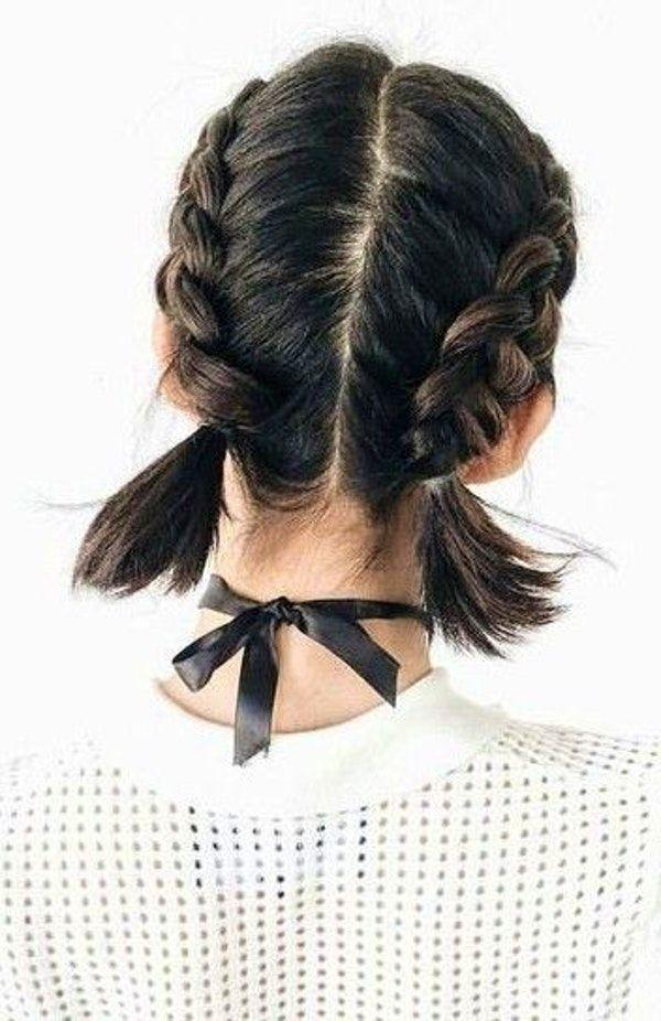 60 Trending Short Hair Styles French Braid Short Hair Braids For Short Hair Thick Hair Styles
