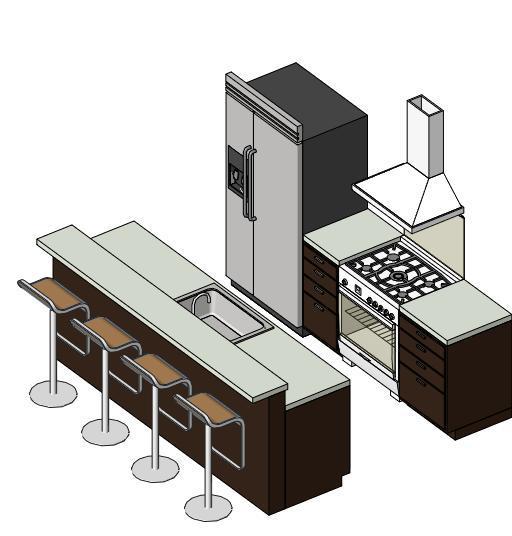Revitcity Com Object Small Kitchen Revit 2011 Interior