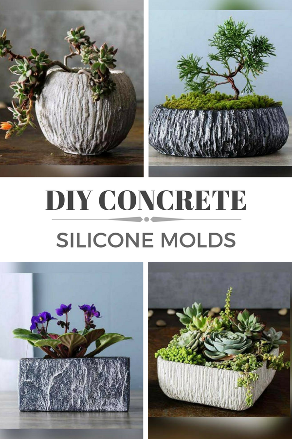 Concrete Flower Pot Molds 63 Fascinating Ideas On Concrete Decor Diy Planters Concrete Diy