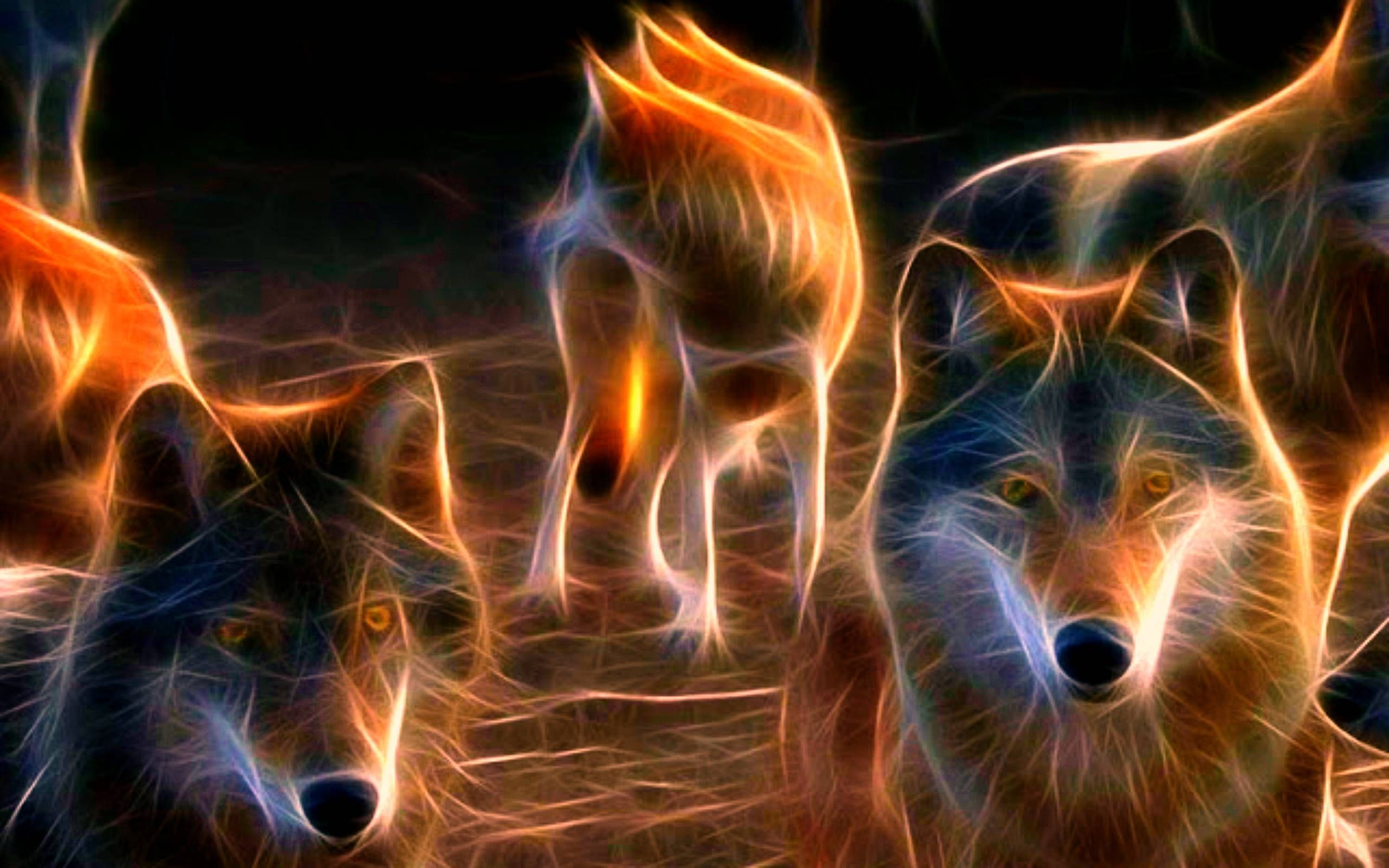 Anime Wolf Pack Wallpaper High Resolution Anime Wolf Fractal Art Fractals