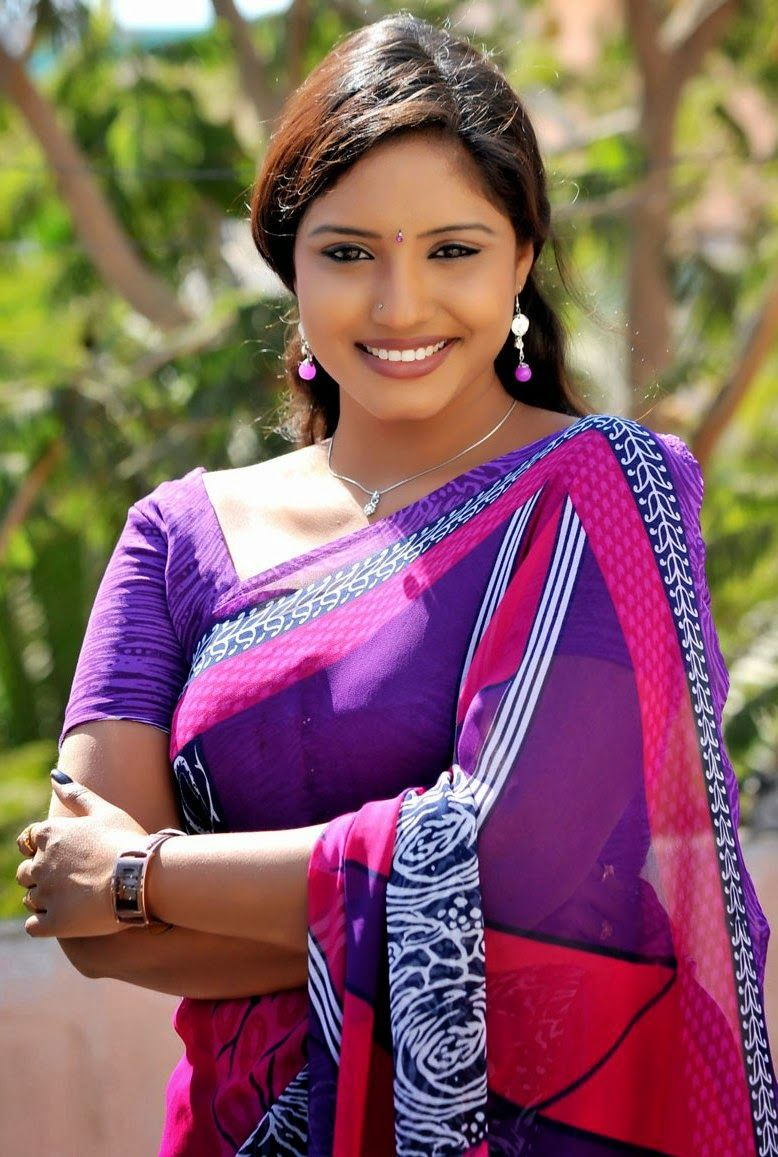 Telugu Tv Actress Roja Komaravolu In Blue Saree  Saree -9738