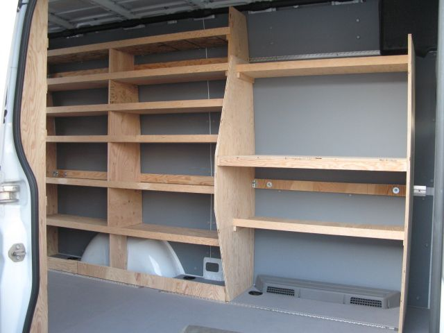 Dodge Sprinter Van Shelfs Wood
