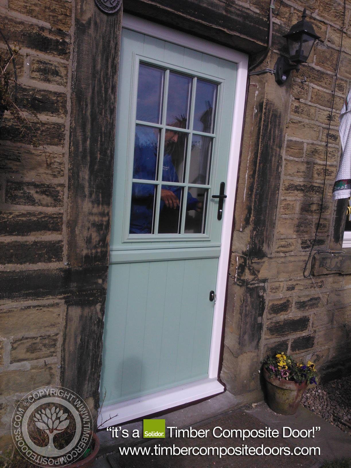 Solidor Beeston Timber Composite Door in Chartwell Green   Kitchen ...