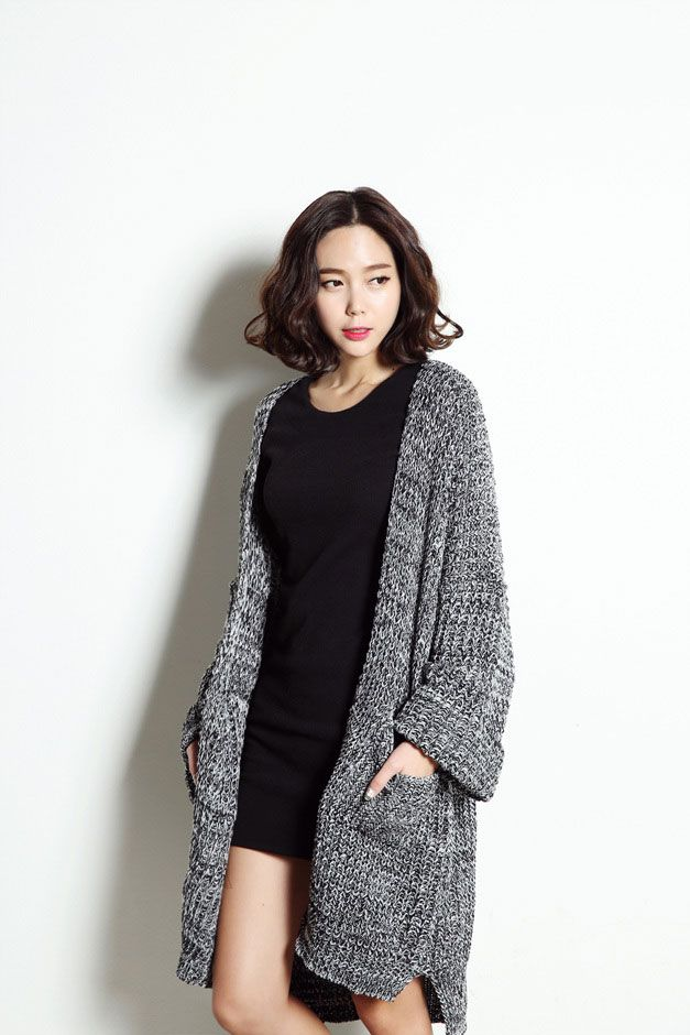 d0a938bb5f3e0 Oversized Knit Cardigan Kpop Fashion