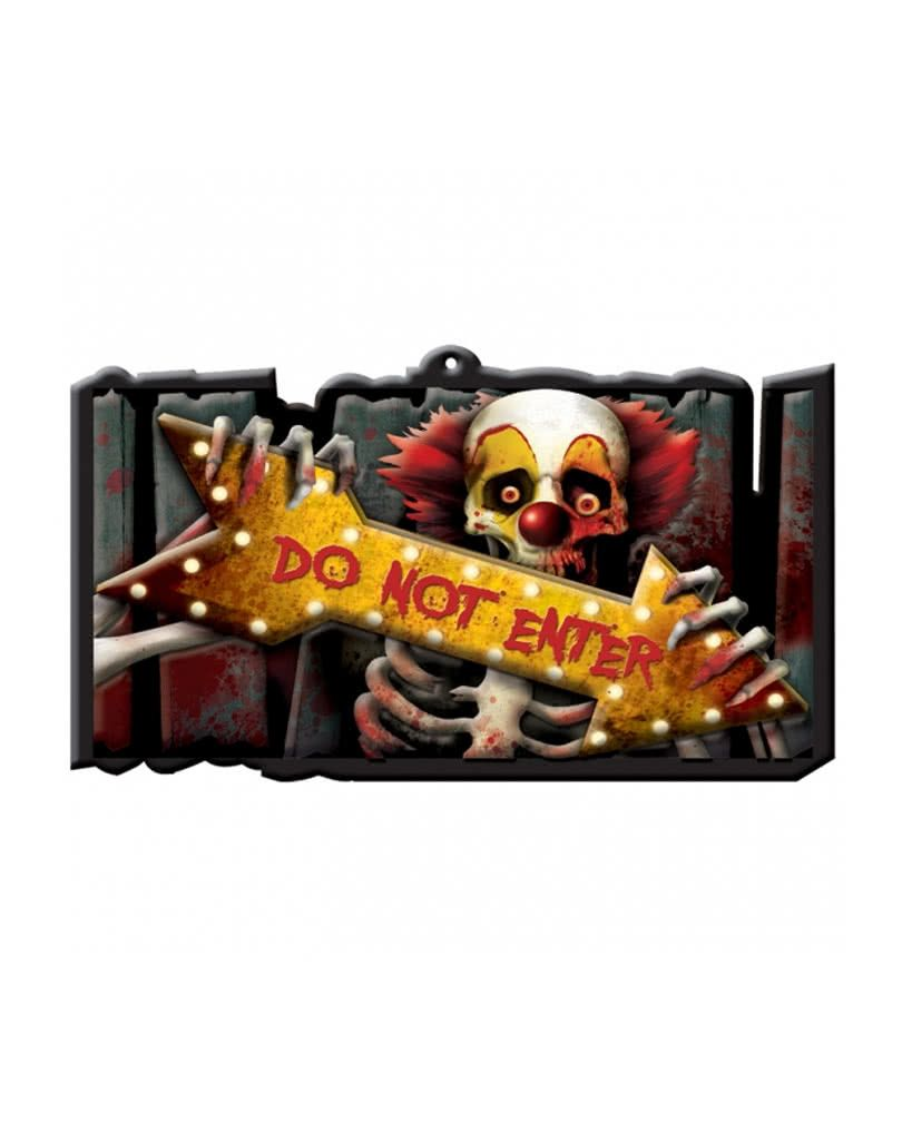 Wanddeko Clown Creepy Clown Warnschild Halloween Wanddekoration Creepy Clown